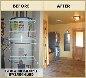 Save space & money with a tankless hot water heater