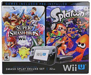 Buy New Nintendo Wii U Console With Super Smash Bros Splatoon and Bundle Deluxe Set
