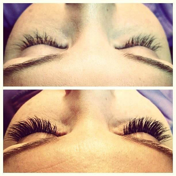 Before and After: Lash extensions