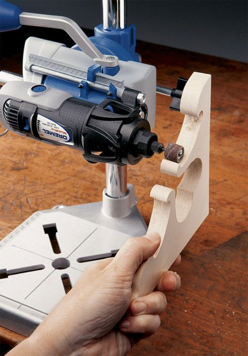 Amazon.com: Dremel 220-01 Rotary Tool Work Station: Home Improvement       bet I could use a smaller padded vice to hold the dremmel...