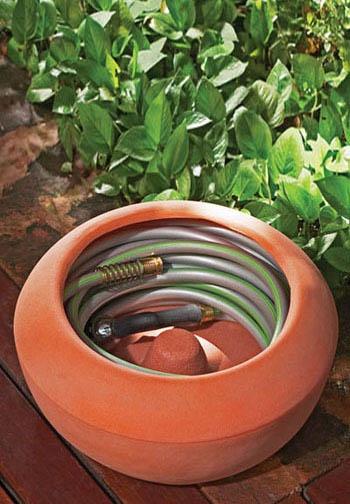 Modern Planters: Contemporary Planter Styled Garden Hose Reel