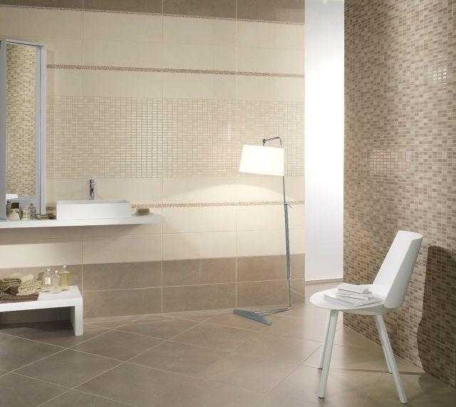 badezimmer design braun creme mosaik fliesen fioranese