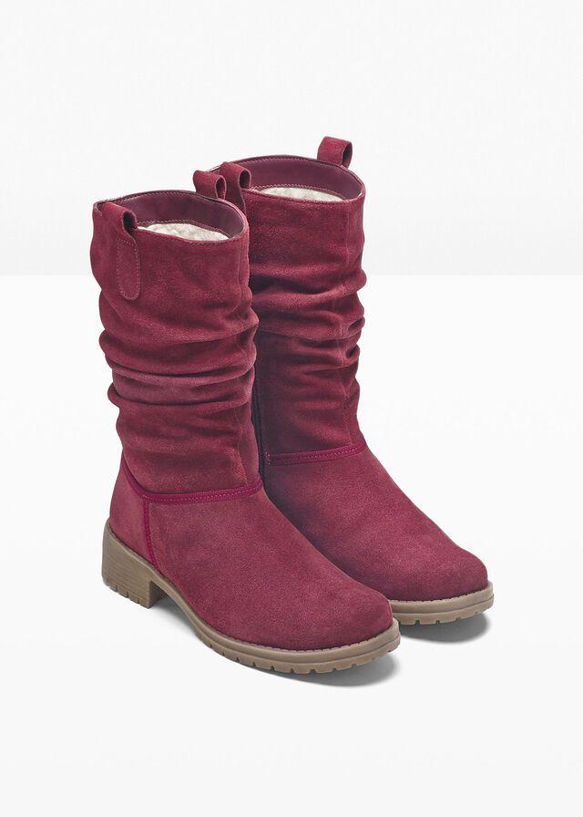 Kozaki Skorzane Bordowy Boots Ugg Boots Winter Boot