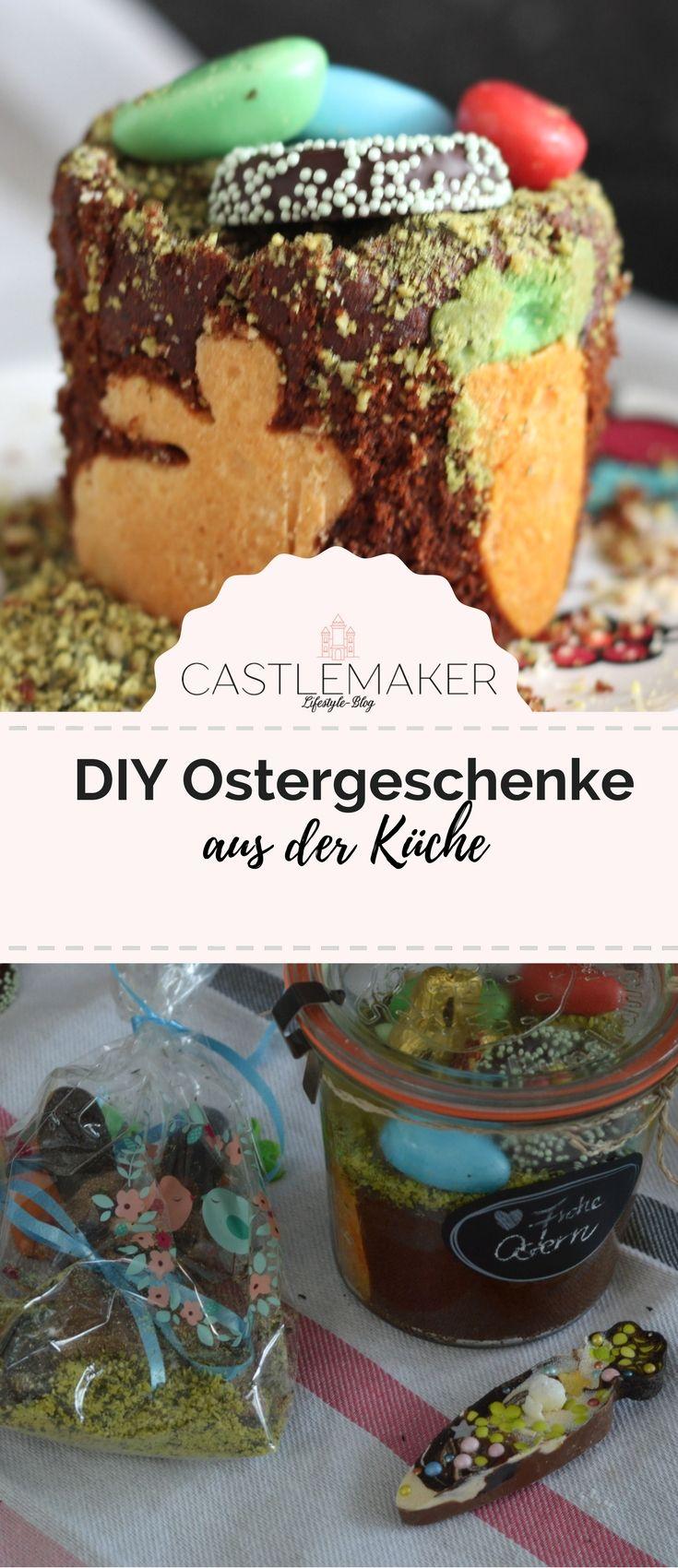 DIY Ostergeschenke - Schokokuchen im Glas, Osterschokolade ...