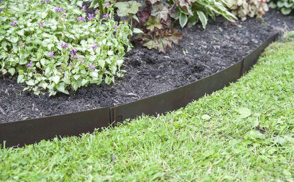 8 x Plastic Fence Panels Garden Lawn Edging Plant Border Landscape Bronze