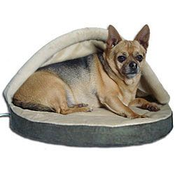 My little Zeke totally needs this heated dog bed to keep him cozy this winter!