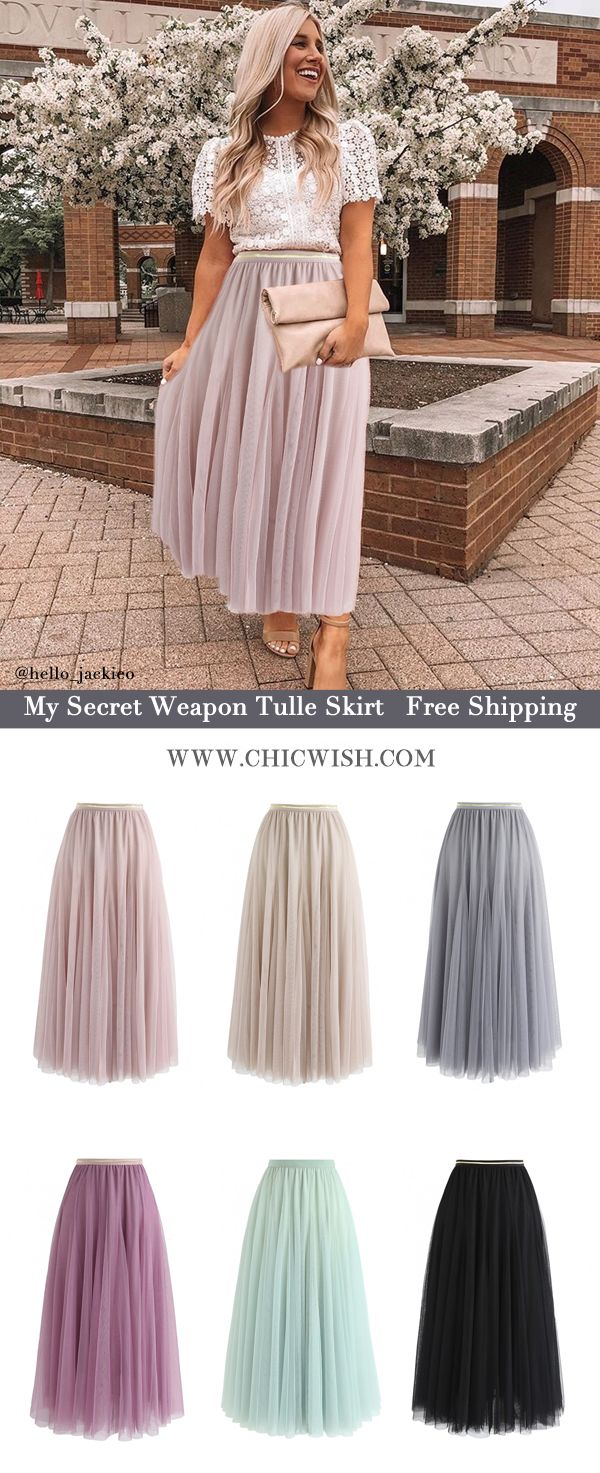 Free Shipping & Easy Return. Up to 30% Off. My Secret Weapon Tulle Skirt featured by @hello_jackieo . #outfit #womenfashion #clothing #fashion #ootd #outfit #skirt #casualoutfit #alineskirt #midiskirt #pleatedskirt #partyskirt #tulle