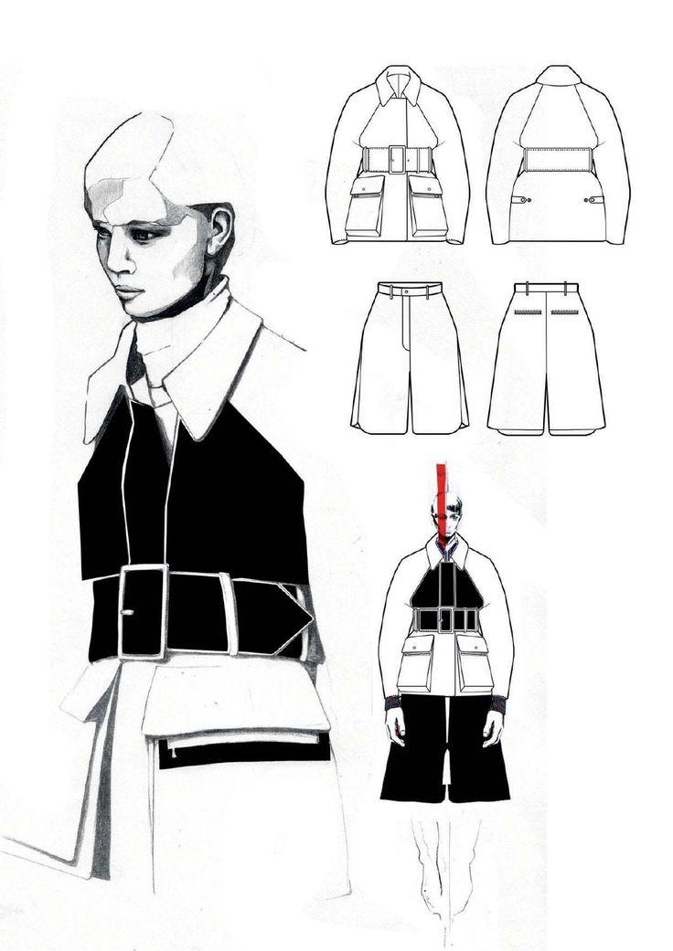 Fashion Sketchbook - fashion design illustration; fashion drawings; fashion portfolio layout // Andrew Voss