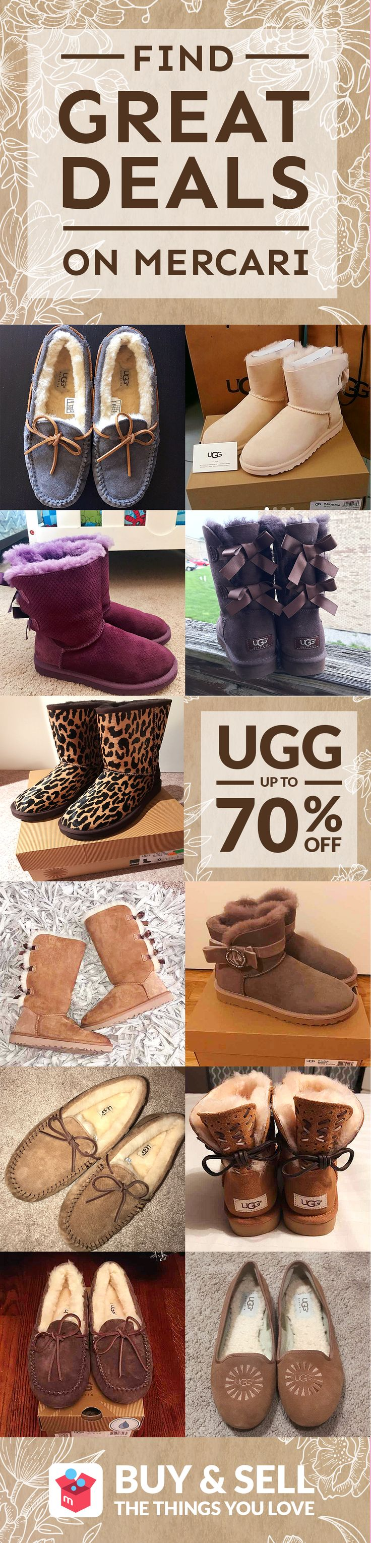 Get your Ugg boots at low prices with Mercari app! Buy and sell new/used items like clothing, brand-name bags, shoes, cosmetics, jewelry, electronics, and more. Turn your old items into cash and find new treasures as well–straight from your mobile phone! Shop confidently with our Buyer Protection Guarantee. What are you waiting for? Start using Mercari today!