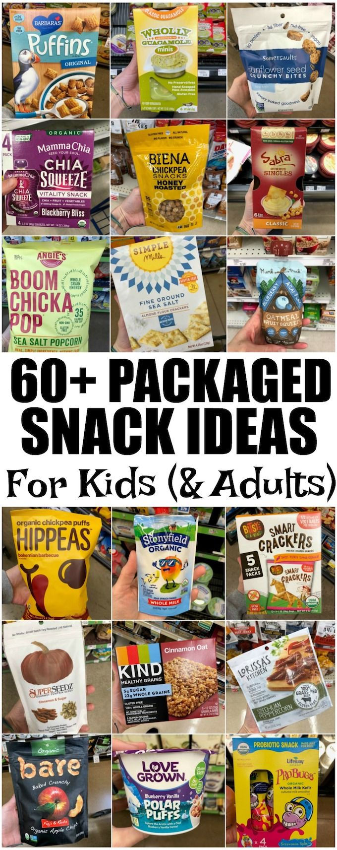 This list of healthy packaged snacks for kids (and adults too!) is meant to provide inspiration for busy parents who are looking for some new ideas. Homemade snacks are great but there are also some good store-bought options available!