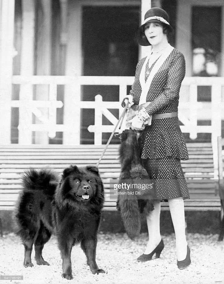 News Photo : Young woman in summer dress with hat and her dog...