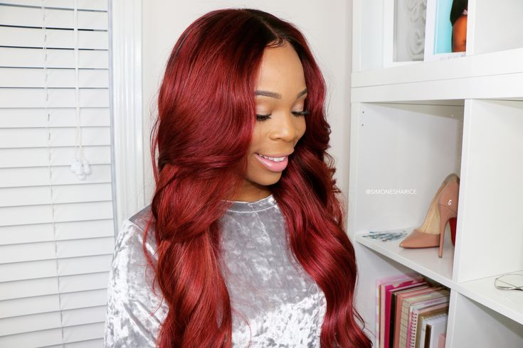 Copper Hair Color on lace front Wig | Simone Sharice