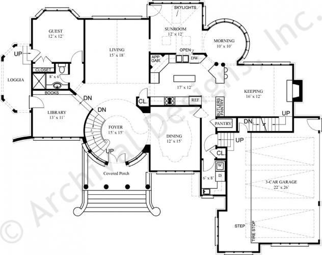 kildare castle house plans home plans by archival designs