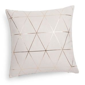 Coussin en tissu beige/or 40 x 40 cm QUEENS