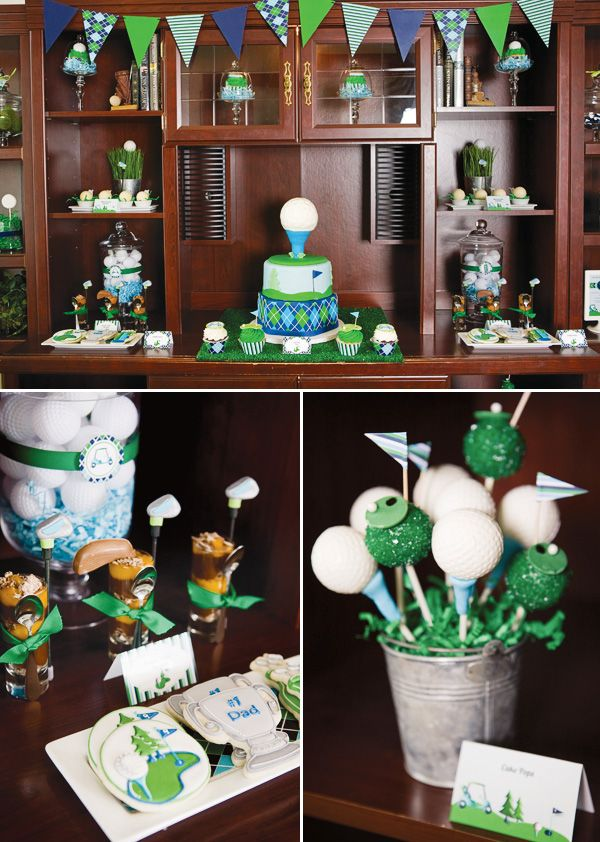 21 best images about golf tournament on pinterest father for Golf decoration ideas