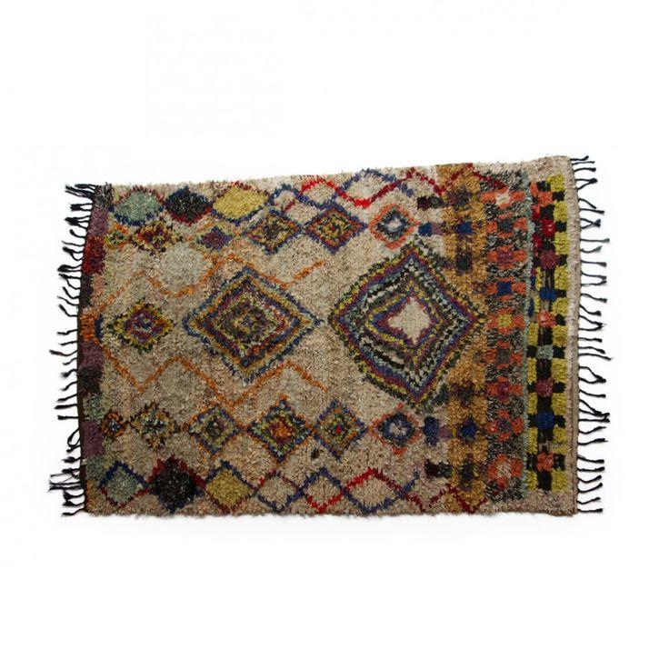Boucherouite rug, no.532 { 200x 140 cm } 3.300DKK