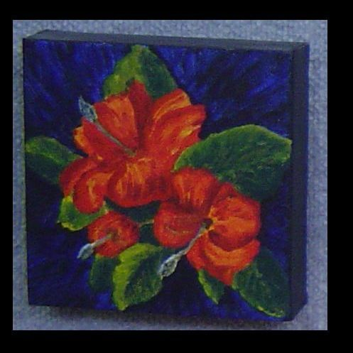My Hibiscus painting using acrylic paint