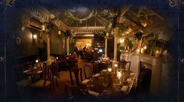 "Powder Keg Diplomacy (Wandsworth, London, UK) : British.  ""...expect cravats, top hats and old school beats, everything here from the gin to the grilled gurnard fillet has been sourced solely from the land and sea of the UK."" ~ BarChick.com"