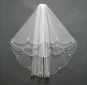 pearl crystal veil