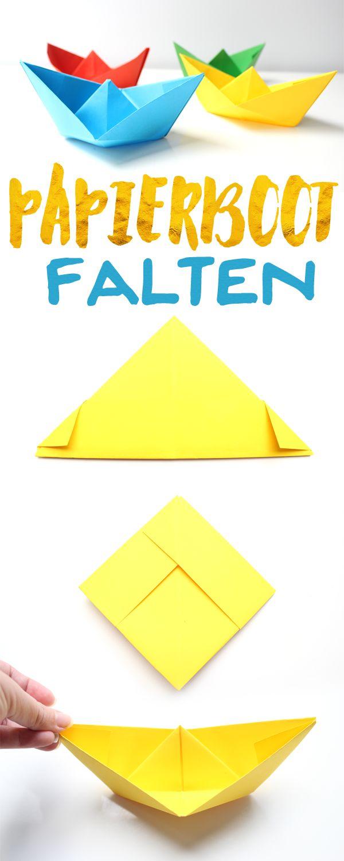 die besten 17 ideen zu papierschiff falten auf pinterest schiff falten origami schiff und. Black Bedroom Furniture Sets. Home Design Ideas