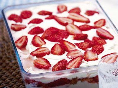 Aardbeien parfait