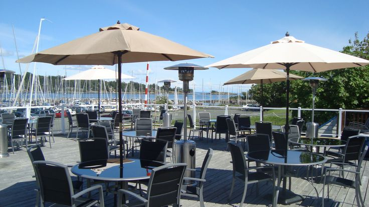 RVYC patio overlooking Cadboro Bay