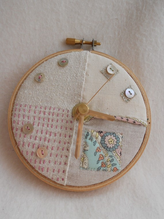 Pastel Patches Mini Wall Clock by LAMdesigns