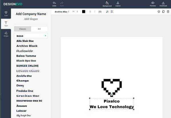 DesignEvo es un editor online gratuito que te permite diseñar logos, de una forma muy intuitiva y que con sus completas bibliotecas, la creatividad te fluirá naturalmente, como si fueras un experimentado diseñador.