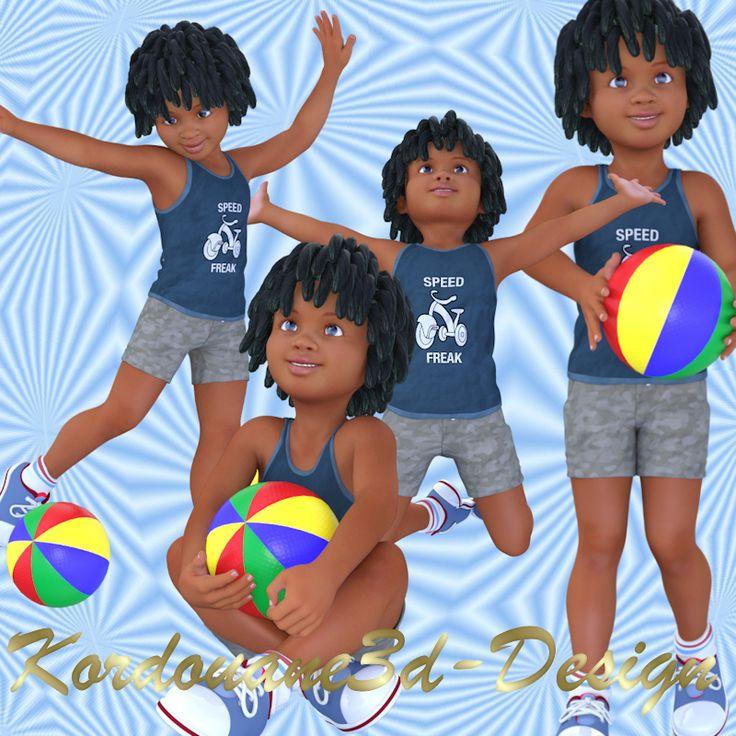 Pascal : 4 tubes de garçonnet au ballon