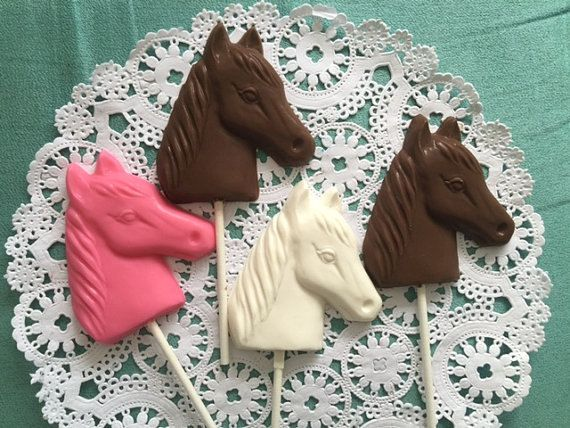 Chocolate Horse Lollipops-Rodeo Party-Cowboy by DeliciousCandyCo
