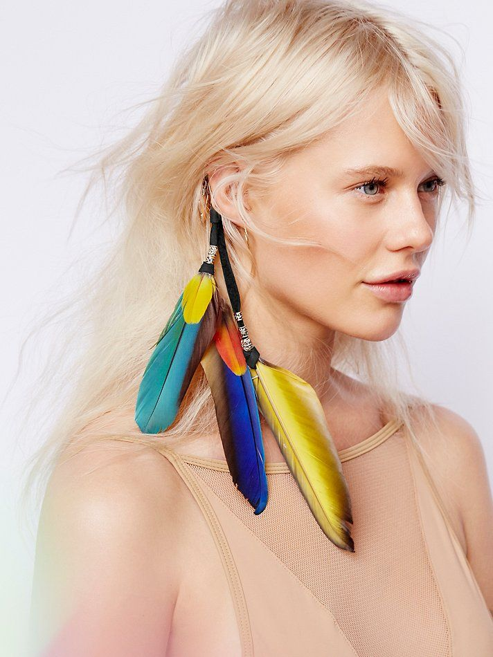 Wild & Free Jewelry for Free People Treasure Island Feather Extension, $68.00