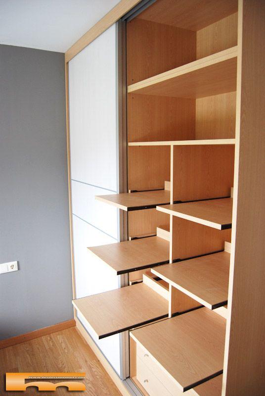 Las 25 mejores ideas sobre armarios a medida en pinterest for Armarios roperos para habitaciones pequenas