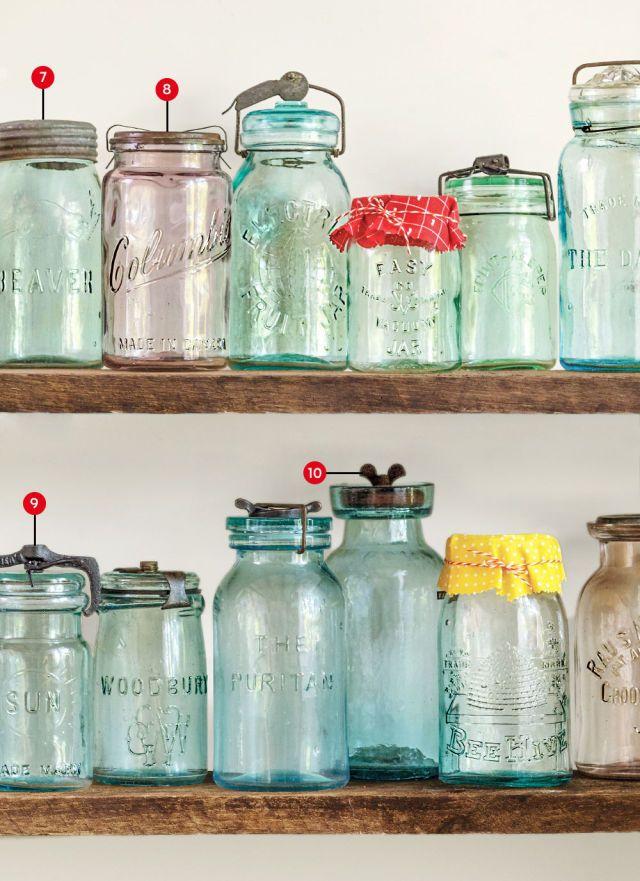 1650 best mason jars images on pinterest mason jar for Glass jar kitchen ideas