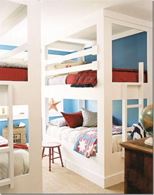 Skylar wants a red and blue room. I didn't think I'd like it, but after seeing these colors together in this room, I actually do like it!