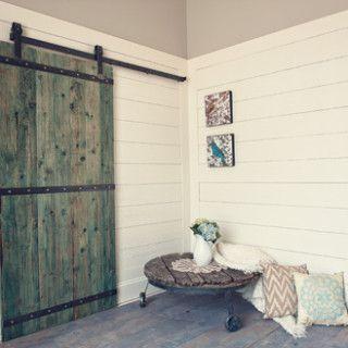 Barn Door Hardware for our Master Bath: Triple Strap Style Door Hardware