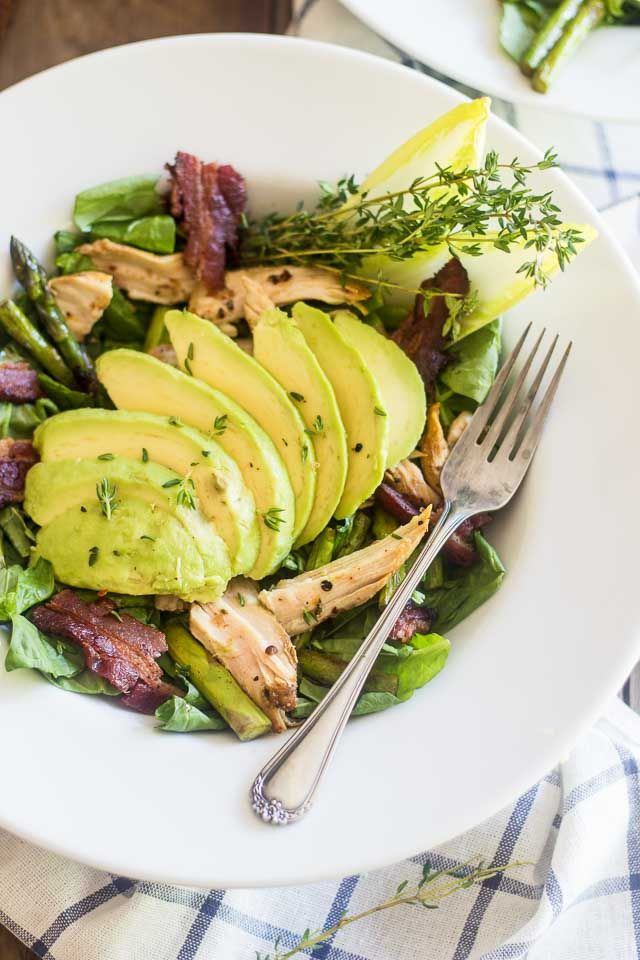 Chicken, Avocado and Roasted Asparagus Salad