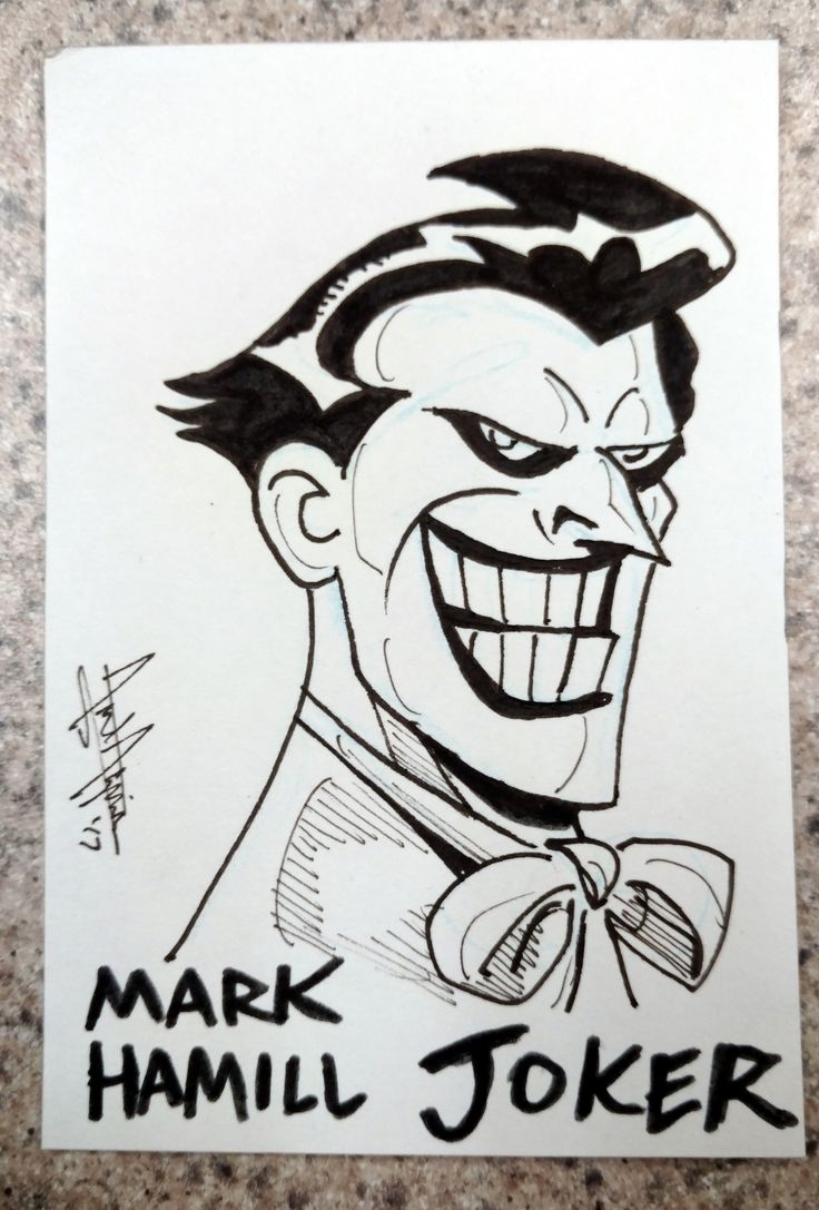 2017 - The Joker Sketch Cards project *MARK HAMILL JOKER: For my money, the all-time greatest on-screen version of the Joker (be it animated, video games or films) is unquestionably the Mark Hamill Joker from the classic 90's Batman: The Animated Series, designed by Bruce Timm! #arielsartwork #joker #thejoker #batman #villain #dc #dccomics #comics #nonphotobluepencil #pencil #pen #marker #ink #sketch #drawing #illustration #art #markhamill #batmantheanimatedseries #btas #brucetimm #classic