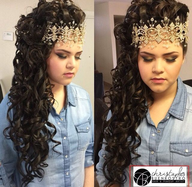 Quinceanera Hairstyles quinceanera hairstyles with curls and tiara hair down google search Quince Hairstyles Wedding Hairstyles Quinceanera Hairstyles Hairstyle Ideas Hair Ideas Prom Hair My Hair Updo Sweet 16