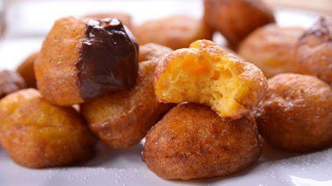 Buñuelos de calabaza con salsa de chocolate - Elena Aymerich - Receta - Canal Cocina