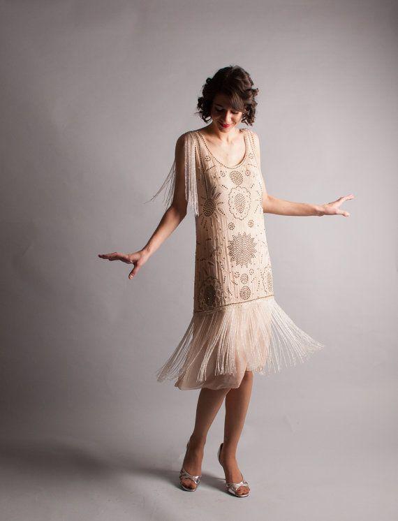 1920s Flapper Dress - Vintage 20s Dress - All That Jazz Dress - by concettascloset