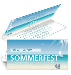 Günstig Bedruckte Sommerfest Einladungen. #sommerfest #einladung  #partyeinladung
