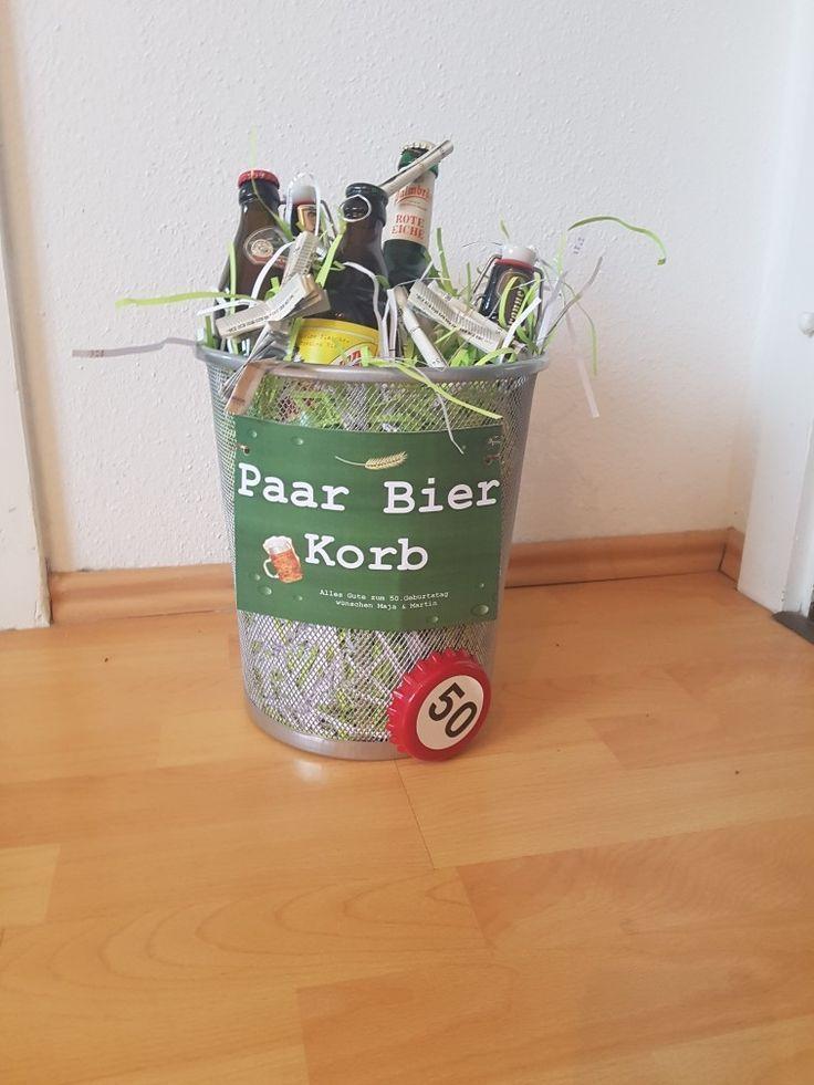 25 + › Paar Bierkorb, Geschenk Bier, Geburtstag, Männer – # 60er Jahre #Bier # Geburtstag #Ge …