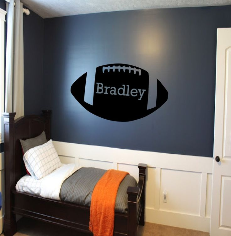 Removable Cutom kids Name Football Wall Decal Personalized America Football Kids Boys Room Sports Decor Wall Sticker Art NY-387