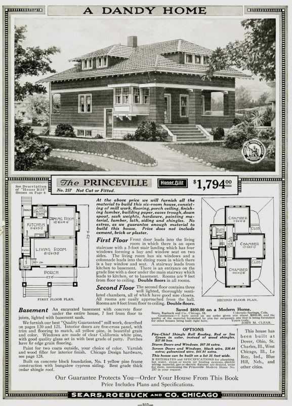 Sears Princeville, as seen in the 1919 cataog.