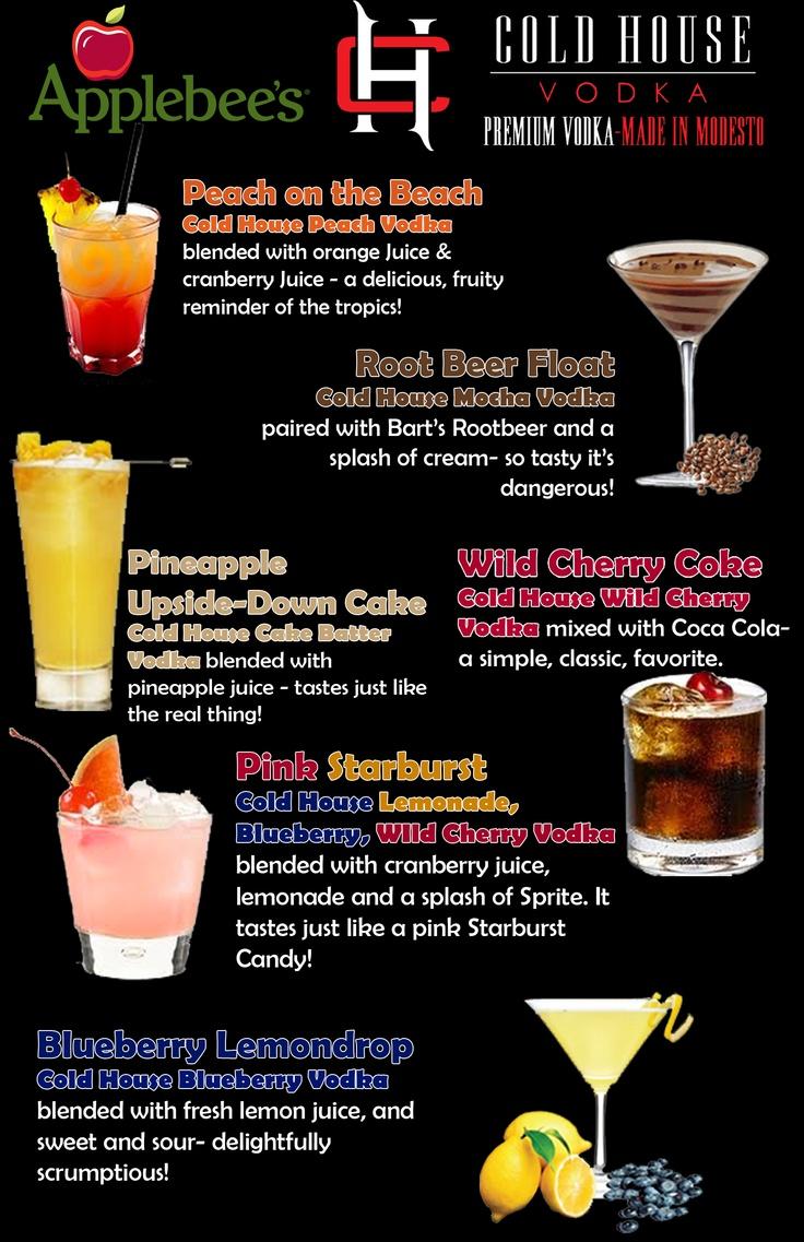 Applebee's Custom Menu | Vodka Recipes | Pinterest