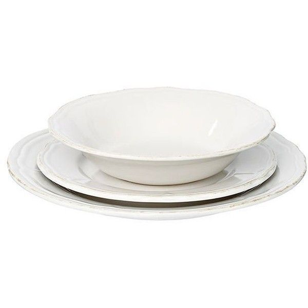 Classic 12 Piece Dinner Set Target Australia ($22) ❤ liked on Polyvore featuring home, kitchen & dining, dinnerware, stoneware soup bowls, stoneware dinnerware, stoneware dinner plates and stoneware dinner sets