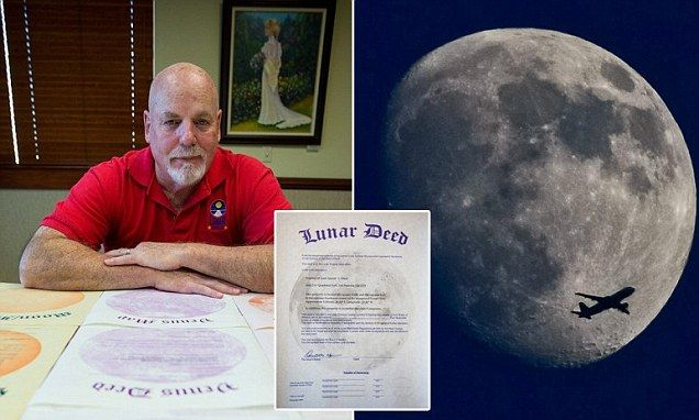 Dennis Hope, 66, from San Fransisco, claims he exploited a loophole in the UN Outer Space Treaty to claim ownership of the moon, and has been selling land there since 1980.