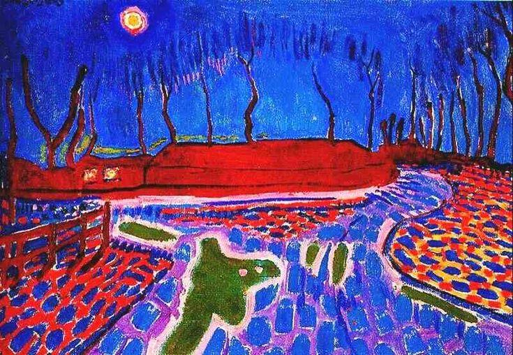 Landscape by Moonlight II Artist: Jan Sluyters Completion Date: 1911 Style: Fauvism Genre: landscape Technique: oil Material: canvas Dimensi...