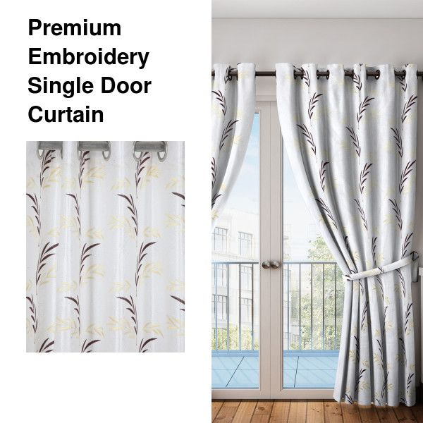 Premium Embroidery Single Door Curtain With Images Curtains
