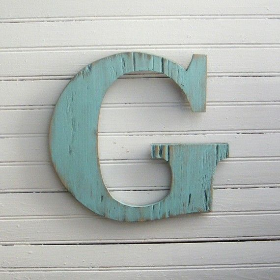 distressed wooden letters